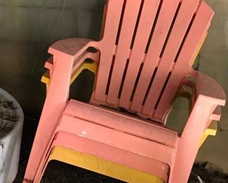 Plastic deck/patio chairs
