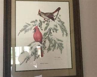 We have 2 nice cardinal prints at this sale.