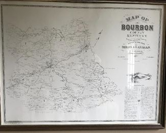 Bourbon County Kentucky map