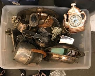 Boxes of silver and silver plate buy by the box full or pick out what you like.