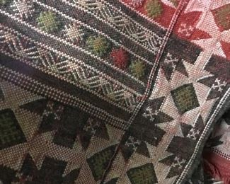 Hand made Vintage blankets and rugs .