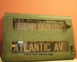 149 N Train Station Sign