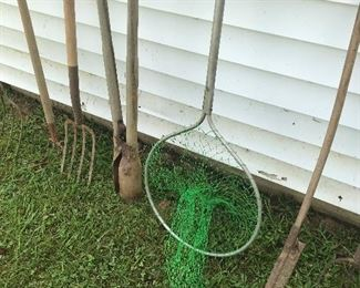 Yard tools ….. yeah, yeah … that is a fishing net and not a yard tool ….. we have those too!!!  : )