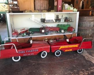Vintage Fire Truck Pedal Cars
