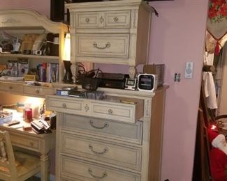 Vintage chest of drawers & bedside table, lava lamps, Sirius speakers, Phillips flat screen television, clock radios, CD walkman & cassette Walkman, & more. Plus, any kind of electronic wire/cord that you can think of!