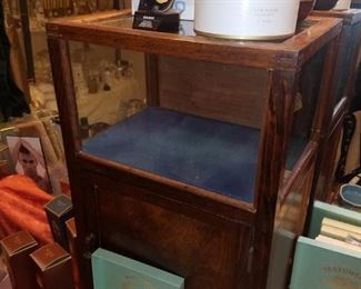 Small, antique display cabinet, Casio watch, & more