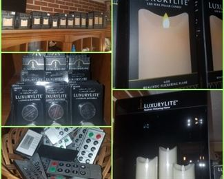 Luxury Lite candles (Kimberly's closeout) - Lighted display, candles, remotes, & batteries.