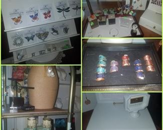 Jewelry including bracelets, rings, pins, & more. Displays & monograms.