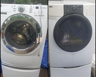 Kenmore Elite washer & dryer with pedestals