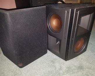 Klipsch speakers (3 available) Surround sound speaker pictured