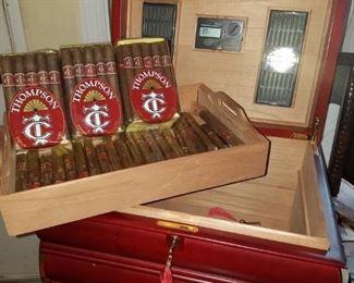 Thompson imported cigars & humidor