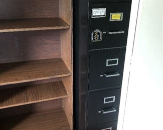 File Cabinet and Bookshelf