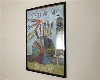 Framed Ann Arbor Art Fair Poster