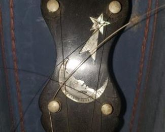 Vintage Cole's Eclipse Man in the Moon Banjo, circa 1898