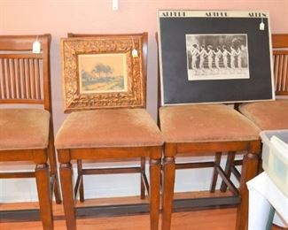 BAR STOOLS - SEVERAL SETS AVAILABLE PLUS MORE FRAMED ART