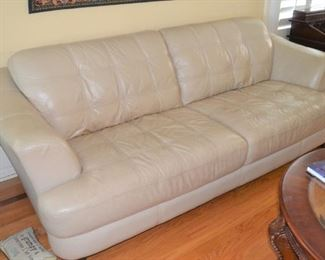 ONE OF TWO LEATHER SOFAS