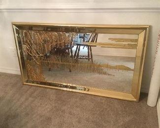 Rectangular Gilded  mirror