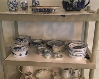 Blue and white China collection & hospital ware dinnerware