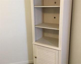 White bookcase cabinet