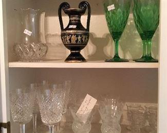 "Waterford ""Alana"" set of 6 goblets, Edinburgh crystal thistle set of 6 port glasses"