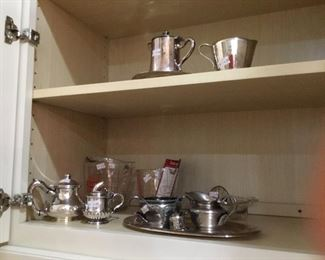 Old and fun silver plated small holloware items