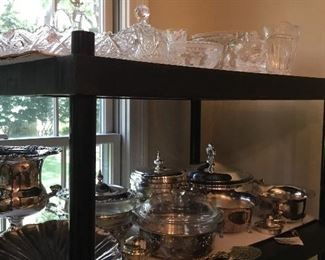 Lots of silver plated serving pieces in mint and clean condition, ready to use!