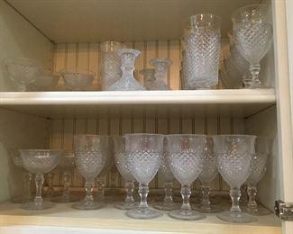 """Westmorland glassware """"English Hobnail"""" round base"""
