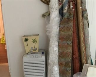 Fabric rolls and dehumidifier