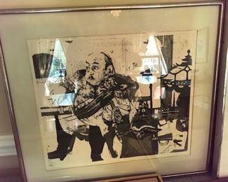 "Jack Levine, print "" the general"""