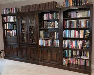 4 Cherry wood Book Cases 36x80 each case. The full width is 144 x 80 inch Height. Book Shelves can hold 300 to 500 books. Cost New $4,000 now For Sale $1,700