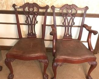 2  ARM CHAIRS 4 WITHOUT
