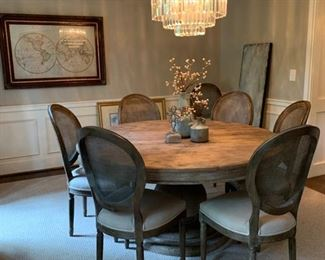 Outrageous Interiors Round dining room set