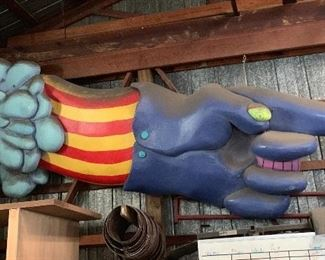 2 Beatles Blue Meanies 16' x 4' They were made as a Beatles Tribute for Ted Turner Original cost $6000 each asking $3000 each