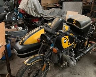 BMW motorcycle with side car... asking $9000
