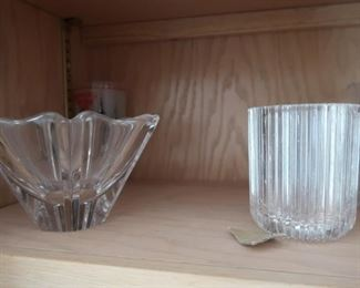 Orrefors, Baccarat, Waterford, Lalique, Swarovski