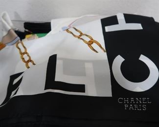 Chanel, Gucci, Pucci, and other vintage designer scarves, Italian, silk, and cotton hand-stitched hankerchiefs