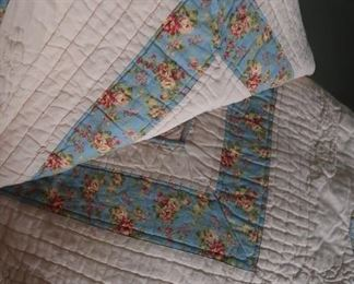 Two-sided king quilt with matching shams-like nothing I have seen before!