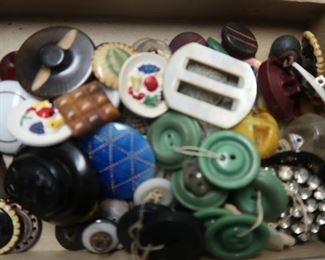 Amazing collector buttons and sewing