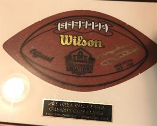 Mike Ditka signed award