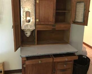 Very Complete Hoosier cabinet