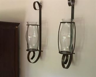 Extra Large Wrought Iron Sconces - DUH