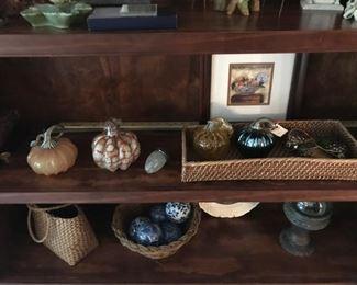 Hand Blown pumpkins and acorn