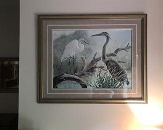 Signed bird prints
