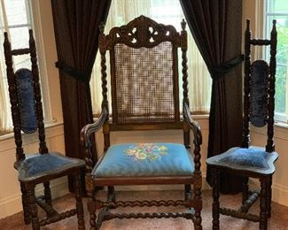 DEACON NEEDLE POINT CHAIR/ALTER BOY CHAIRS