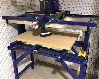 "CNC router is a 3 axis ShopBot Inc. ""PRT"" with a cutting area of 24"" x 32"". The router motor is a 110V 3.25hp Porter cable model 75182. The stepping motors drivers have been updated for better performance. It is on a metal stand and includes a Dell Inspiration laptop computer, computer and controller console, dust and noise enclosure and Vectric V-Carve Pro 8.5 design software.$3500"