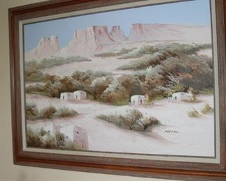 South Western oil painting by Mescal.