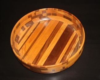 Hand carved wooden bowl.