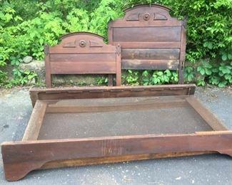 Antique Bed Frame https://ctbids.com/#!/description/share/182469