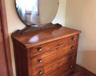 Vintage Dresser with Round MirrorVintage Dresser with Round Mirror    https://ctbids.com/#!/description/share/182503