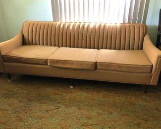 Retro Mustard Yellow Sofa https://ctbids.com/#!/description/share/182971